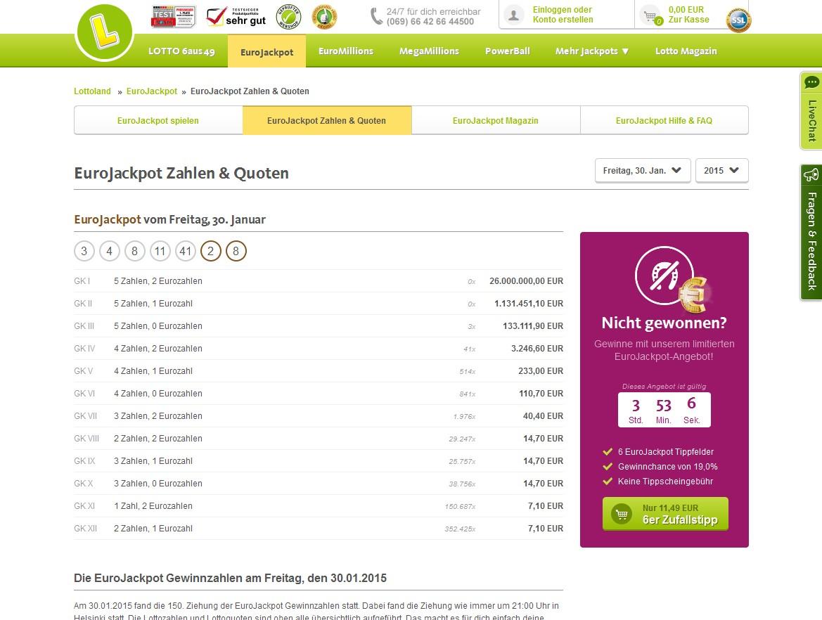 Www.Eurojackpotzahlen.Com